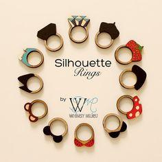Bamboo Silhouette Diamond Ring. $20.00, via Etsy.