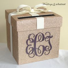 Hey, I found this really awesome Etsy listing at https://www.etsy.com/listing/233137516/champagne-and-ivory-wedding-card-box