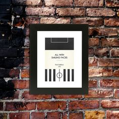 Book Clubs Newcastle A4 Football Print in black and by TommySauce, £9.50
