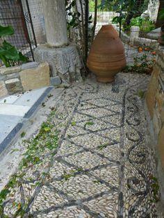Pebble Mosaic circa 1880, Pythagorio, Samos          Gardens by Jeffrey Bale