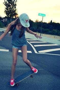skater girl + vans