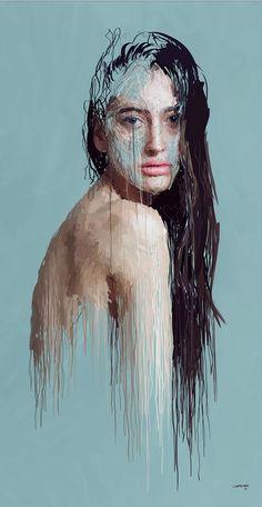 Drip-effect Portraits by Marcello Castellani   Illusion Magazine