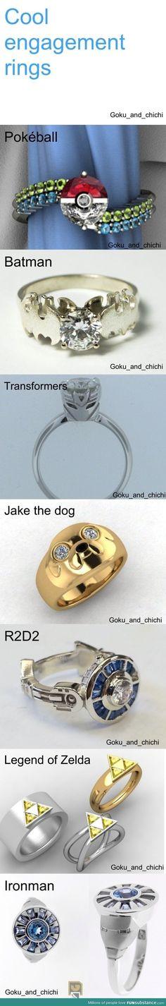 Super cool engagement rings // Haha!
