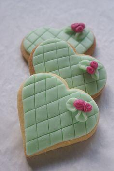 Mint heart cookies