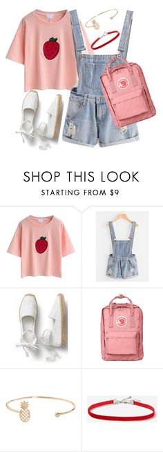 """""""Summer casual"""" by vickytoria09 ❤ liked on Polyvore featuring Fjällräven, Humble Chic and Topshop"""