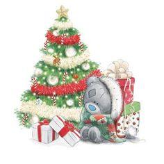 Tatty teddy met kerstboom