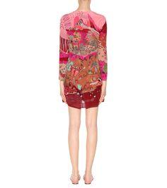 Valentino - Printed silk dress | mytheresa.com