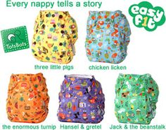 """Easyfit V3 """"Every Nappy Tells a Story"""" Prints - Poppers"""