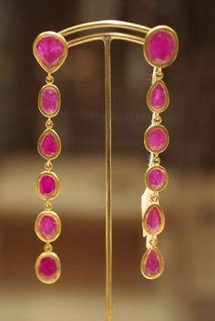 Yossi Harari ruby earrings
