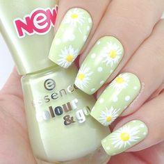Daisy Nails, Flower Toe Nails, Sunflower Nails, Kawaii Nails, Toe Nail Designs, Best Acrylic Nails, Dream Nails, Stylish Nails, Holiday Nails