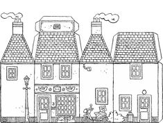House Colouring Pages, Coloring Book Pages, Coloring Sheets, Craft Bags, Toy Craft, Paper Crafts For Kids, Fun Crafts, Transportation Theme Preschool, House Template