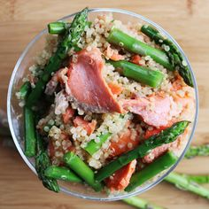 Springtime Salmon, Asparagus, Quinoa salad is one of our new low histamine diet recipes. Enjoy the season's best while meeting your dietary needs.
