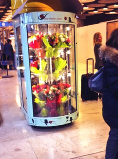 Flowers in the AirPort. Do not forget it