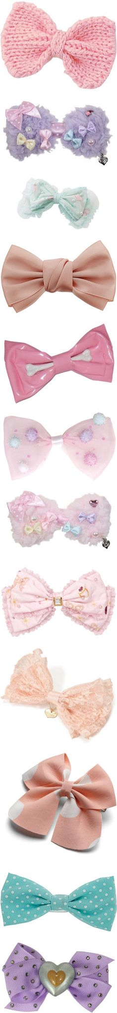 """Fairy Kei Hair Acessories"" by roseunspindle ❤ liked on Polyvore"