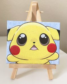 Cute Pikachu Mini Acrylic Canvas Painting Kawaii Pokemon Art Desk Ornament Decoration by JennifairyW on Etsy https://www.etsy.com/listing/468841820/cute-pikachu-mini-acrylic-canvas