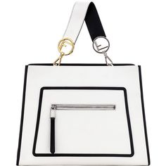 Fendi White Shoulder Bag ($2,050) ❤ liked on Polyvore featuring bags, handbags, shoulder bags, white shoulder handbags, shoulder bag handbag, shoulder bag purse, fendi and fendi handbags
