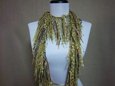 Fringe Binge Scarf Necklace in Shades of Light by pflumsthumbs, $25.00