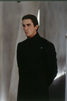 I don't think I'm like any of the characters I've played - they're all really far from who I am. Equilibrium Movie, Black And Grey Outfits, Batman Christian Bale, Film Movie, Movies, Anti Fashion, American Psycho, Male Face, Good Looking Men