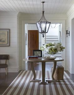 Pretty cottage entryway!  Love the ship-lap siding.  #entryways #foyers homechanneltv.com