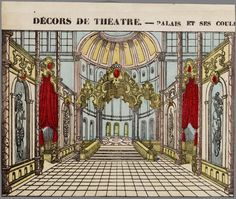 Palais et ses coulisses Paper  theater antique #paperconstruction #papertheater