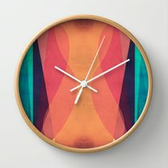 Emotions Wall Clock by VessDSign - $30.00
