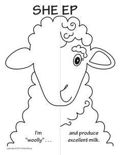 Farm Animals Symmetry Activity Coloring Pages 1-3