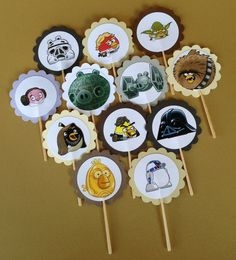 Angry Birds Star Wars Cupcake Toppers by PartyXtras on Etsy, $4.00