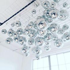 Ban.do disco ball ceiling
