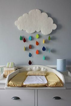 Raining clouds:  Could use this idea to make a cute crib mobile too