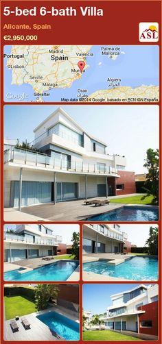 5-bed 6-bath Villa in Alicante, Spain ►€2,950,000 #PropertyForSaleInSpain