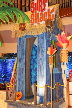 Another view of the Surf Shack you too can create for your VBS! See Surf Shack Decorating Guide for more details. cokesburyvbs.com