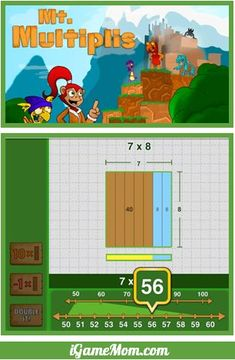 Free Math App for kids visually teaching kids how to use Operation Properties to solve multiplication problems