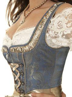 Pinned by ❃❀CM❁✿Sanitz Dirndl mittel (. Old Fashion Dresses, Fashion Outfits, Womens Fashion, Gothic Fashion, Lingerie Design, Robes Disney, Moda Medieval, Mode Costume, Renaissance Dresses