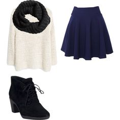 Winter by juniormint15 on Polyvore featuring polyvore, fashion, style, MANGO, QNIGIRLS, Clarks and H&M