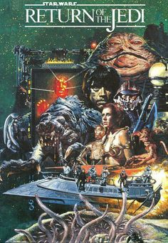 "Movie book illustration for ""Star Wars: Episode IV - Return of the Jedi"" - 1983."
