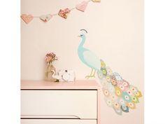 Baby- und Kinderzimmer Wandsticker *Grosser Pfau pastell*