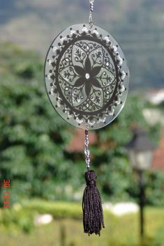 Mandalas Artesanais - Energia em vidro e acrilico