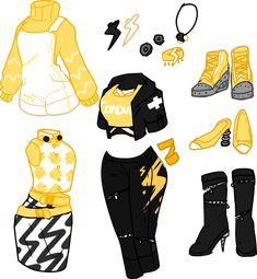 Anonymous said: could we see the yellow version of maul crawl frankie? i love all ur work and wanna see all ur ideas! Manga Clothes, Drawing Anime Clothes, Kawaii Clothes, Anime Girl Drawings, Cute Art Styles, Cartoon Art Styles, Fashion Design Drawings, Fashion Sketches, Kleidung Design