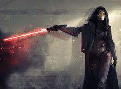 El artista   Kevin Macio ha sido el creador de este Star Wars Fan Art, vemos una Lady Sith,  con su espada laser en mano, dispuesta a servir al nuevo señor oscuro. Seguro que la familia  Skywalker frustrará sus planes.
