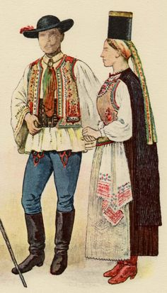 d0e72342cc528 Costume of a Saxon couple from the district of Bistritz