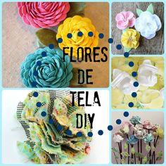 5 ideas de flores de tela DIY que vas a querer hacer Diy For Kids, Flowers, Fabric, Handmade, Ikea, Tutorials, Paper, Crafts To Make, Fashion For Girls