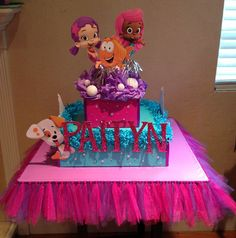3+tier+Bubble+Guppies+cupcake+stand+by+AmazingStands+on+Etsy,+$70.00