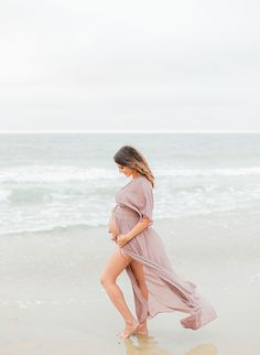Romantic Beach Maternity Photos - Inspired By This