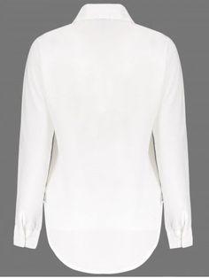 799c61ad Loose Long Sleeeve Turn Down Collar Solid Color Women's Blouse Blusas,  Vestidos, Cocina,