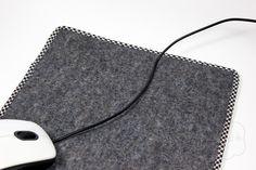 Tutorial für ein Mousepad aus Filz, beschichteter Baumwolle und Schrägband von Fabulatoria