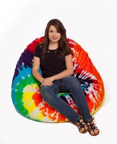 KingBeany Tie Dye Bean Bag Chairs are a blast from the past. They are the classic tied and dyed by hand bean bags. Large Bean Bag Chairs, Bed Room, Logan, The Past, Room Ideas, Tie Dye, Board, Design, Dormitory