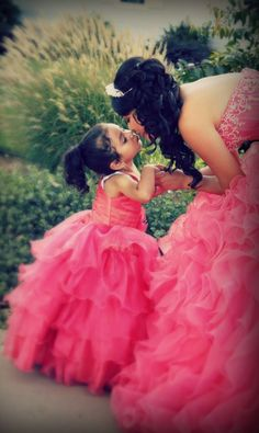 Quinceanera and her little mini me