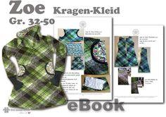 Zoe♥ Kragen-Kleid 32-50 Nähanleitung Schnittmuster von first lounge berlin     Einzigartige Ebooks Nähanleitungen mit Schnittmuster ♥ Auch für Nähanfänger  auf DaWanda.com