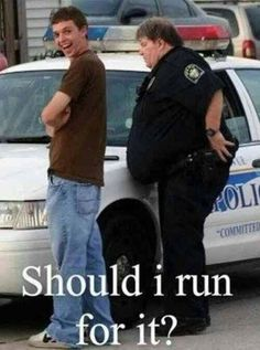 More funny pictures, funny fails, and funny texts at BemeThat Funny Police Pictures, Funny Images, Funny Photos, Funniest Pictures, Stupid People Memes, Funny People Quotes, Police Jokes, Firefighter Humor, Cops Humor