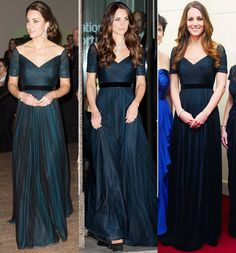 Kate Middleton Recycles a Midnight Blue Dress for Her Last Night in NYC from InStyle.com